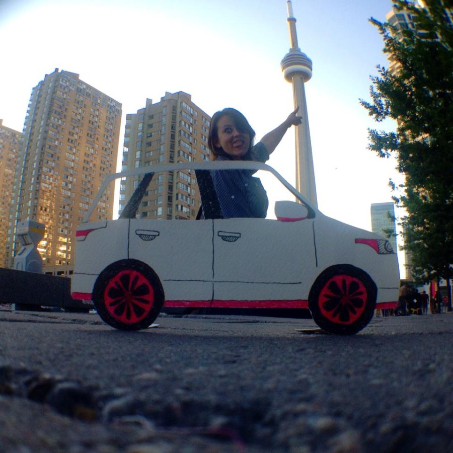 Me driving the Razor Rover in Toronto, Canada