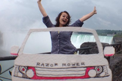 Traveling Niagara Falls in the Razor Rover