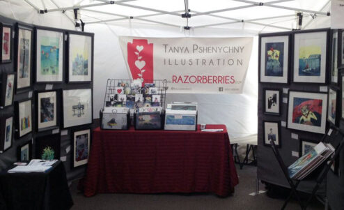 Tatyana Pshenychny Razorberries Art Show