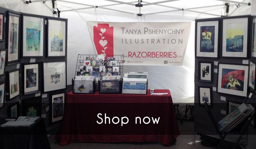 Shop: Tatyana Pshenychny Razorberries Art Show